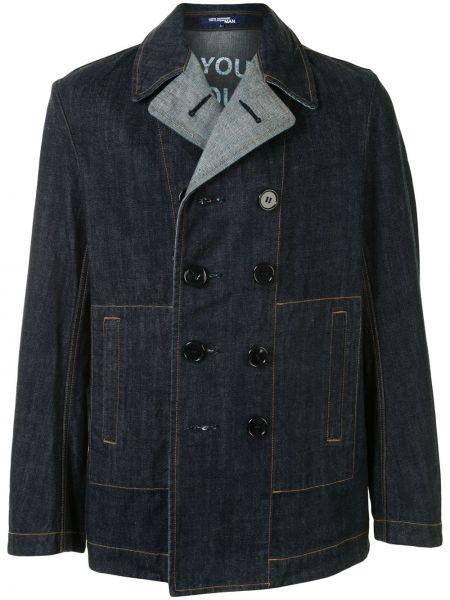Прямая синяя джинсовая куртка на пуговицах с воротником Junya Watanabe Comme Des Garçons Pre-owned