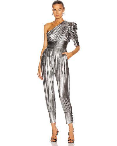 Текстильный серебряный кружевной комбинезон Retrofete