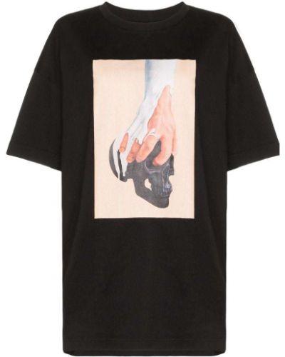 Футбольная черная футболка со стразами Ten Pieces