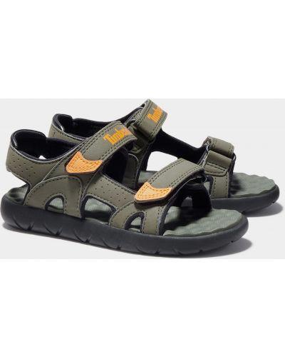 Кожаные сандалии на липучках со вставками Timberland