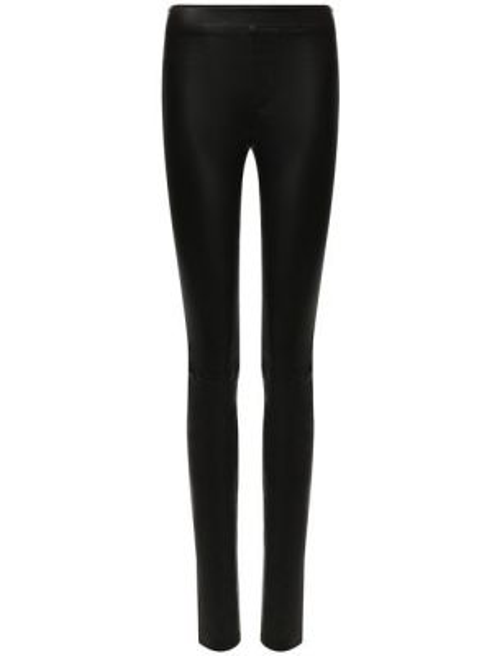 Бордовые зауженные брюки с поясом свободного кроя Helmut Lang
