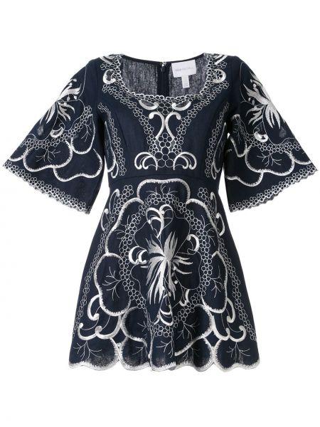 Платье мини с вышивкой на молнии Alice Mccall