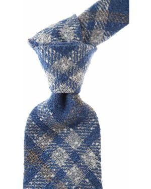 Szary krawat bawełniany w kratę Belvest