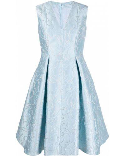 Платье миди в цветочный принт - синее Talbot Runhof