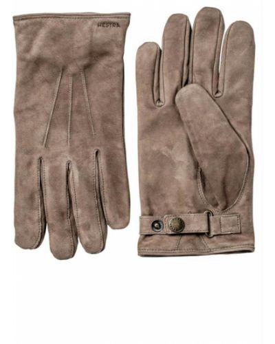 Żółte rękawiczki zamszowe Hestra