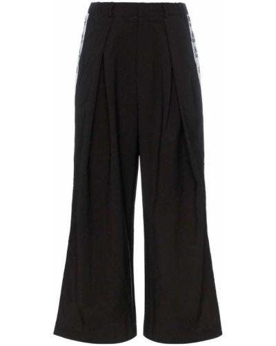 Черные спортивные брюки с поясом с манжетами Charm`s
