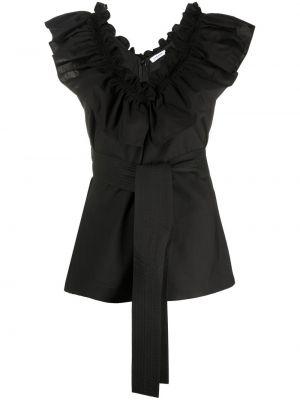 Черная блузка без рукавов со вставками P.a.r.o.s.h.