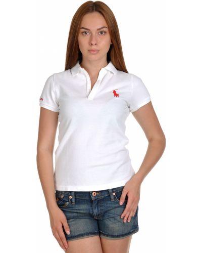 Белое поло Ralph Lauren