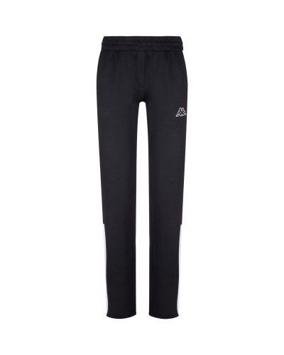 Спортивные прямые хлопковые черные спортивные брюки Kappa