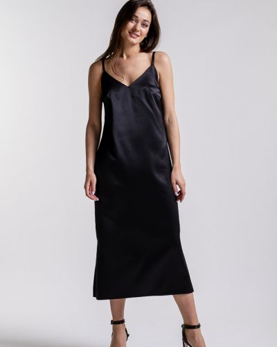 Вечернее платье миди - черное Arjen