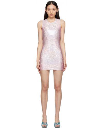 Beżowa sukienka srebrna Saks Potts
