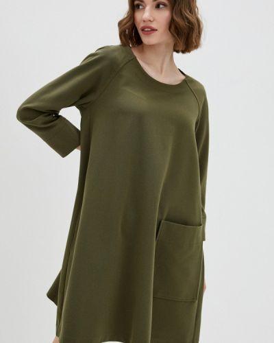 Прямое зеленое платье А-силуэта United Colors Of Benetton