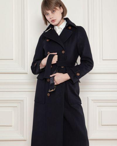 Шерстяное пальто - синее Dolcedonna