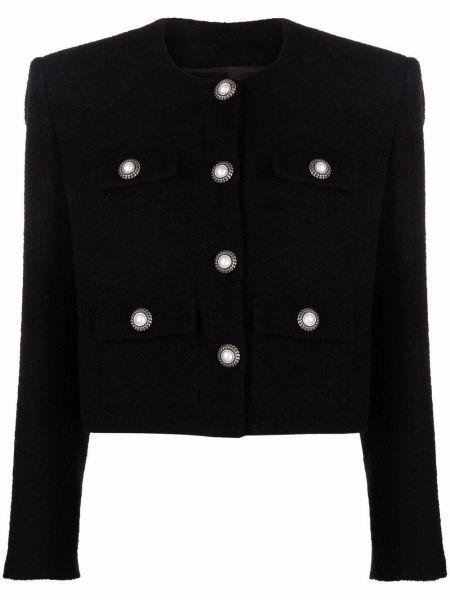 Черная куртка с карманами Alessandra Rich