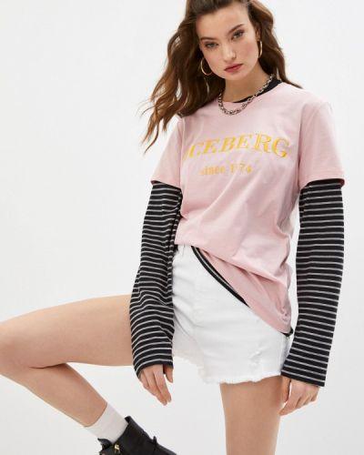 Розовая футболка с короткими рукавами Iceberg