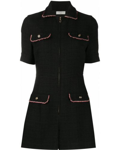 Z rękawami bawełna czarny pajacyk z kieszeniami Sandro Paris