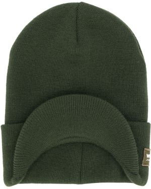 Prążkowana zielona czapka z akrylu Woolrich Kids