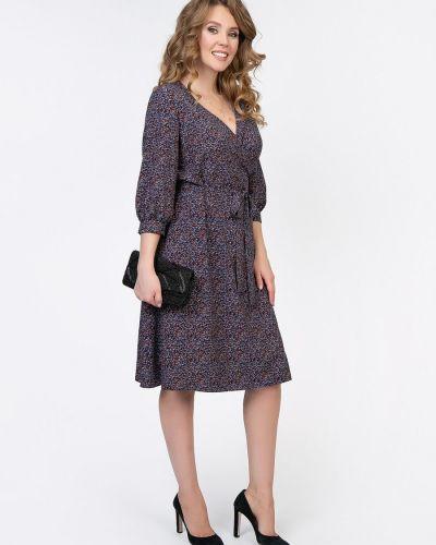 Приталенное платье с рукавами с запахом с V-образным вырезом с поясом Diolche
