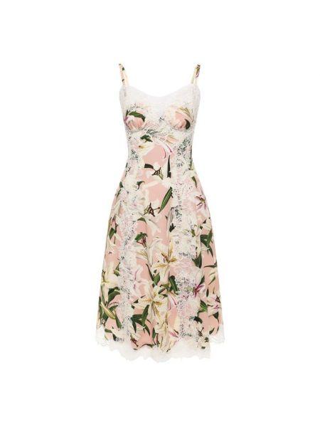 Платье розовое шелковое Dolce & Gabbana