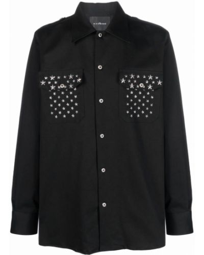 Черная рубашка с карманами John Richmond