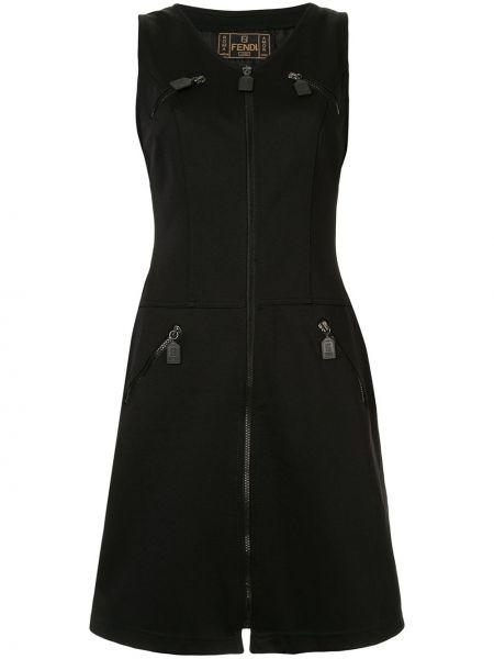 С заниженной талией платье винтажное на молнии без рукавов Fendi Pre-owned