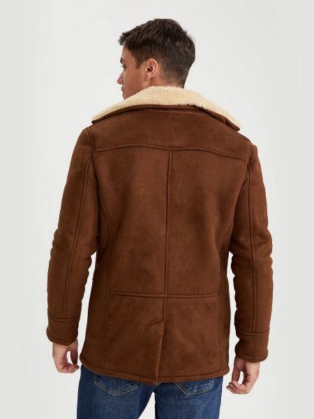 Пальто с мехом Defacto