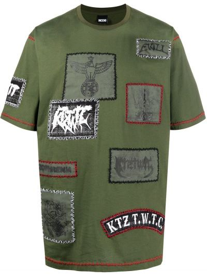 Zielony t-shirt bawełniany krótki rękaw Ktz