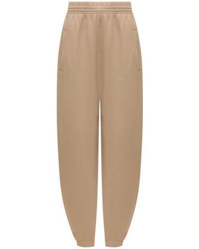 Хлопковые бежевые брюки Agolde