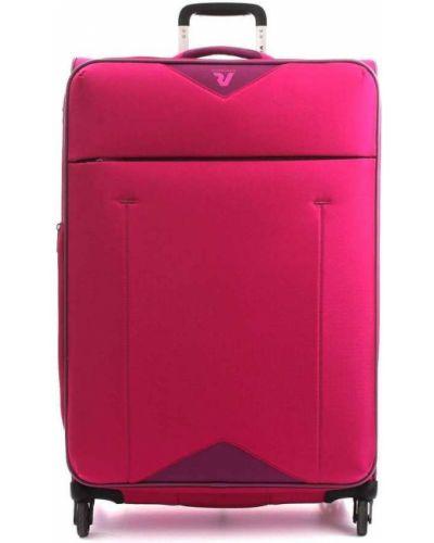 Różowa walizka oversize Roncato