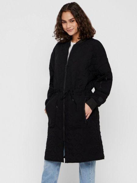 Утепленная куртка демисезонная черная Noisy May