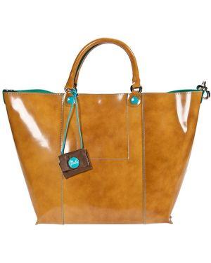 Кожаная сумка - желтая Gabs