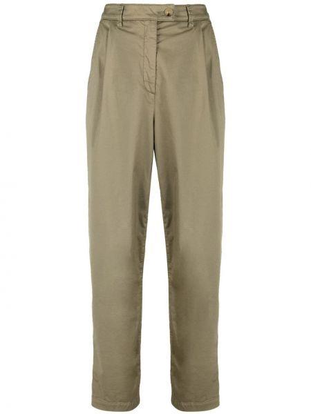 Зеленые прямые брюки Luisa Cerano