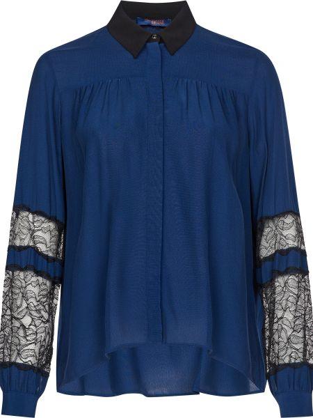 Блузка из вискозы - синяя Trussardi Jeans