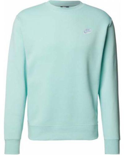 Bluza bawełniana turkusowa prążkowana Nike
