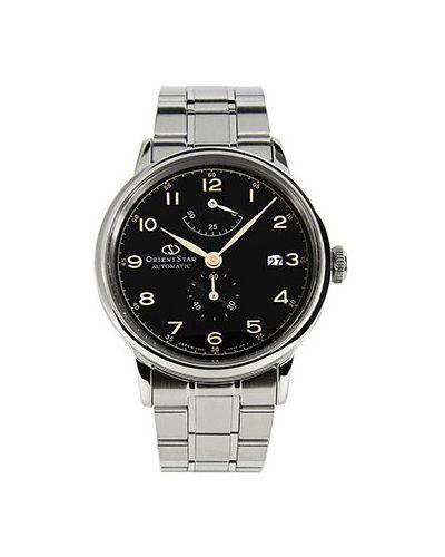 Часы механические водонепроницаемые с черным циферблатом Orient