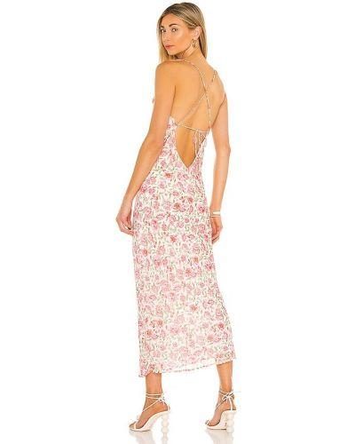 Розовое кружевное платье Bardot