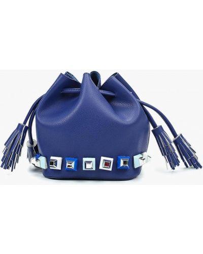 Синяя кожаный сумка Menbur