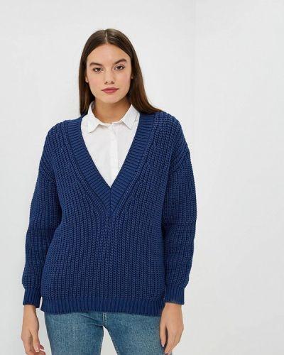 Пуловер синий Brusnika