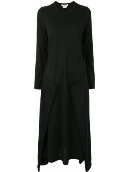 Платье миди платье-свитер черное Comme Des Garçons