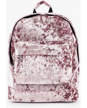 Рюкзак бархатный розовый Mi-pac