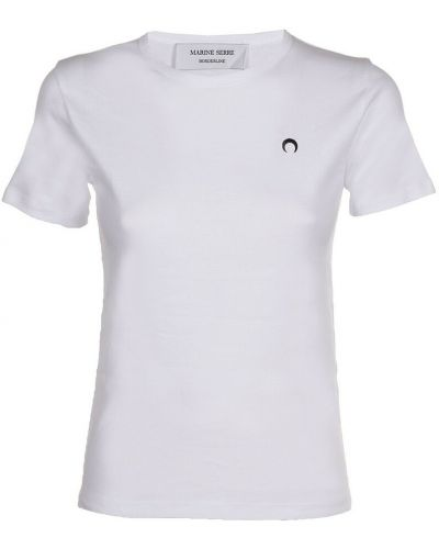 Biała t-shirt Marine Serre