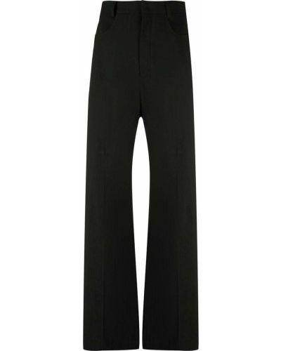 Czarne spodnie z wysokim stanem materiałowe Jacquemus