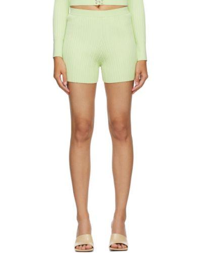 Нейлоновые зеленые шорты Dion Lee