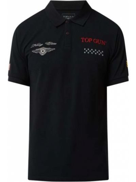 Czarna koszulka bawełniana Top Gun