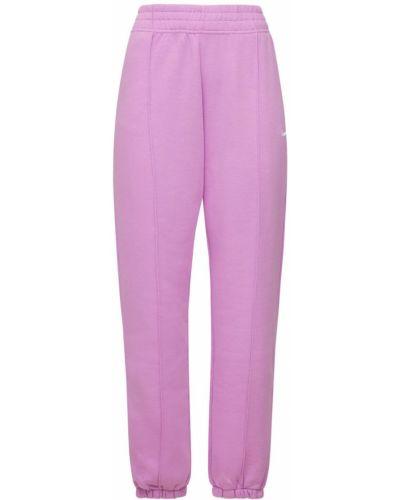 Fioletowe spodnie bawełniane Nike