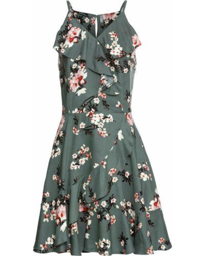 Летнее платье облегающее с цветочным принтом Bonprix