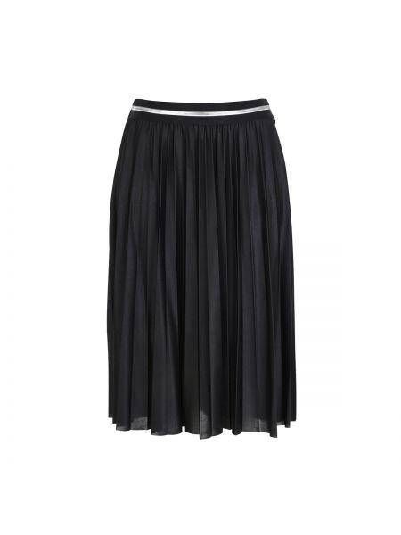 Черная ажурная плиссированная юбка оверсайз ниже колена Mat Fashion
