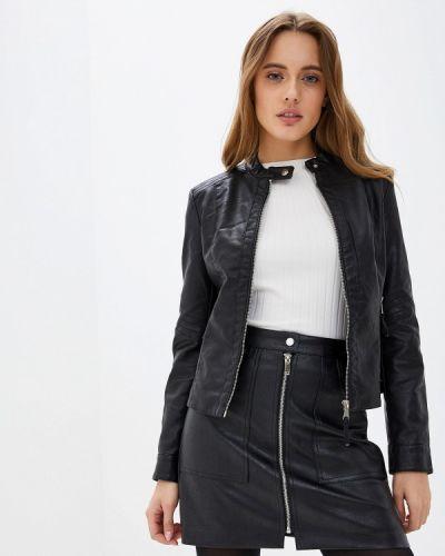 Кожаная куртка осенняя черная Softy