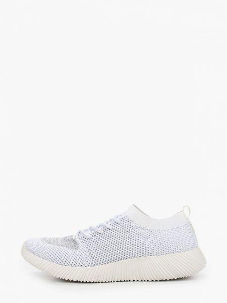Белые текстильные кроссовки Der Spur