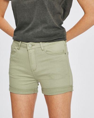 Зеленые джинсовые шорты Answear